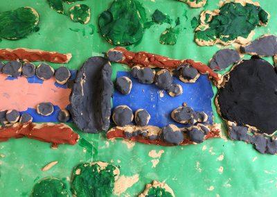 Clay on rocks