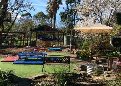 Photo of the Kensington Gardens Preschool outdoor space